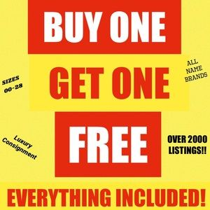 THIS WEEK ONLY! BUY 1, GET 1 FREE ON EVERYTHING